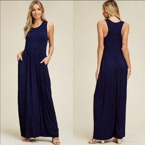 Dresses & Skirts - ✨ RESTOCKED ✨NAVY TANK MAXI DRESS